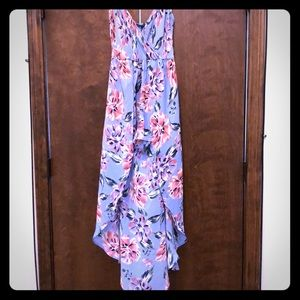 New floral romper with half skirt